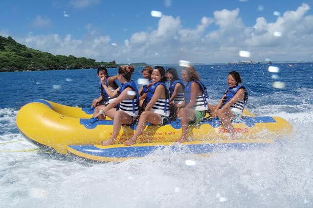 バナナボート、セブ島の観光バナナボート