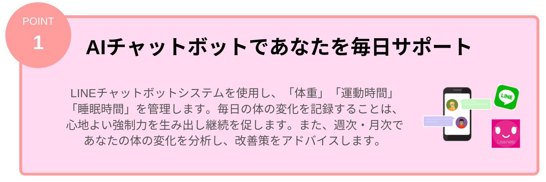 LINEでおうちトレーニング(特徴1)
