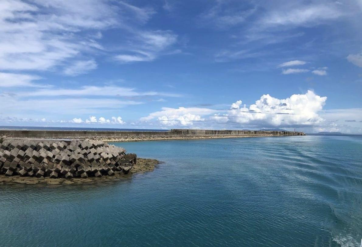 石垣島の離島 西表島(上原港)