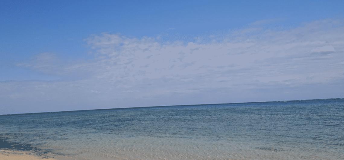 野底にあるビーチ